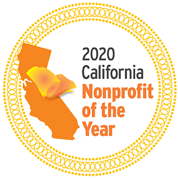 ca nonprofit of the year 2020 seal for honorees