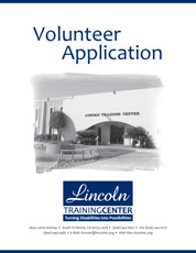 Front Cover of the Volunteer Application