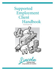 Front Cover of the Supported Employment Client Handbook