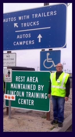 employee at a rest area