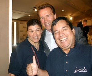 Gov. Arnold Schwarzenegger with LTC Clients